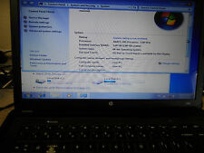 "Genuine HP Pavillion 15.6"" Laptop Complete Win 7 1.6GHz 3GB RAM 160GB HDD AS IS!"