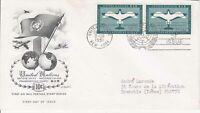 United Nations NY19 - Enveloppe 1er jour 1951 Airmail stamp séries 10c