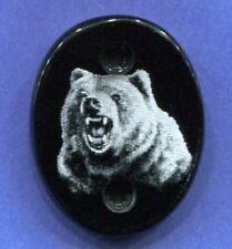 Thompson Center Encore/Omega G2 Gun Stock Grip Cap Grizzly Bear polished edge