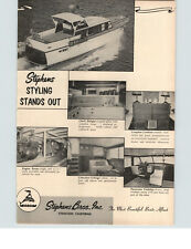 1960 PAPER AD Stephens Bros Yacht British Seagull Outboard Motor Motorboat Boat