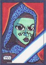 STAR WARS GALAXY 6 SKETCH CARD 1/1 JOE HOGAN - FULL COLOR!