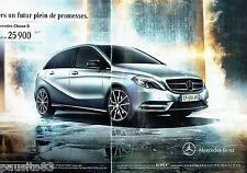 PUBLICITE ADVERTISING 116  2013  Mercedes-Benz  (2p)   la nouvelle  Classe B 18O
