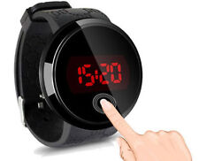 Fashion Black  Waterproof Men's LED Touch Screen Day Date Silicone Wrist Watch
