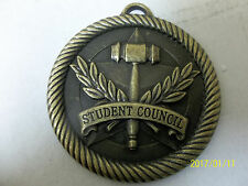 """New 2"""" gold medal, lanyard Red, W & B, Student Council, School"""