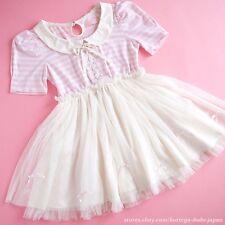 LIZ LISA Tralala Bouffant Tulle Lace-up Ribbon Puff OP Dress Lolita Kawaii Japan