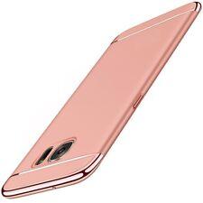 Funda protectora móvil para Samsung Galaxy S7 EDGE CARCASA 3 en 1 FUNDA Rose oro