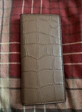 NWT Coach Breast Pocket Crocodile Leather In Saddle