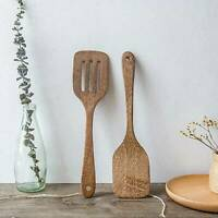 Kitchen Wooden Spatula Tools Spoons Handicrafted Wooden Cooking Mixing Utensils