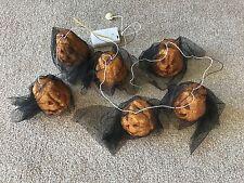Halloween a batteria Ghirlanda di 6 Luci Zucca Con Brillantini Per Le Feste