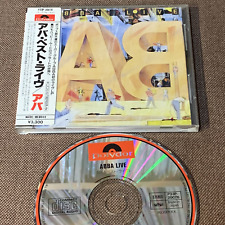 ABBA Live JAPAN CD P33P-20076 w/STICKER-OBI+16p P/S BOOKLET 1986 issue 3,300 JPY