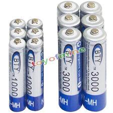 6 AA 3000mAh + 6 AAA 1000mAh battery Bulk Nickel Hydride Rechargeable 1.2V BTY