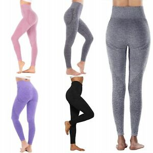Women High Waisted Seamless Yoga Leggings Hip Lifting Workout Pants for Exercise