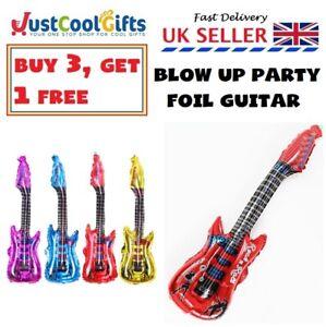 LARGE Inflatable Blow Up Guitar Fancy Dress Hen Party Prop Disco Musical 106cm