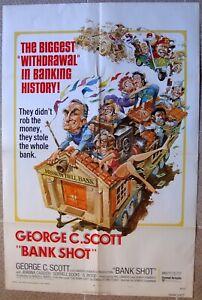 "BANK SHOT One Sheet 27x41"" US Original Movie poster George C. Scott Film 74/174"