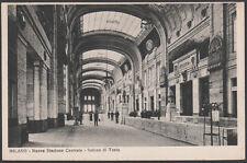 cartolina MILANO nuova stazione centrale-salone di testa