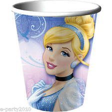 CINDERELLA Sparkle 9oz PAPER CUPS (8) ~ Disney Princess Birthday Party Supplies