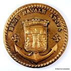 Base Navale Adour - Old French Navy Marine Nationale Tampion Plaque Badge Crest