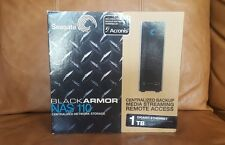 SEAGATE Black Armor NAS 110 1TB Streaming Network Storage Media Backup HD