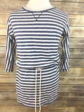 Victoria's Secret Blue & White Striped Beach Cover Up Dress Medium