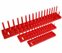 "3-Piece Socket Storage Tray Rack Stand Rail Holder 1/4"" /8"" 1/2"" Garage Tool"