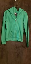 American Eagle Women's Soft Cotton Zip Up Hoodie Green Small