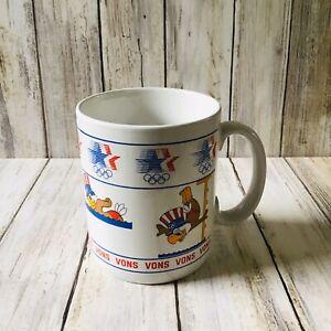Rare Vons USA Olympics 1980 Sam The Eagle Ceramic Papel Brand Coffee Mug VGC