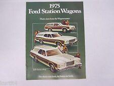 1975 Ford Station Wagons LTD Torino Pinto Original Sales Brochure Catalog