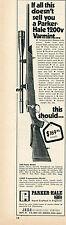 1972 Print Ad of Jana Parker Hale Super Model 1200V Varmint Rifle