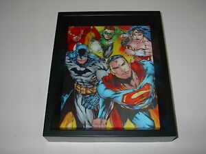 DC COMICS JUSTICE LEAGUE OF AMERICA 3-D HOLOGRAM FRAMED PICTURE PYRAMID NEW