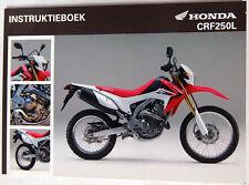 Manuale di Uso Honda Instruktieboek CRF250L 00X39-KZZ-B010