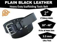"Scaffold Heavy Duty 2"" Black Leather Professional Quality Tool Belt"