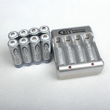 Popular 8pcs AA 2500mAh 1.2V NI-MH BTY rechargeable battery With BTY Charger Kit