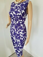 PHASE EIGHT SIZE 14 GORGEOUS BODYCON SUMMER DRESS HARDLY WORN IMMACULATE