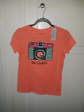 CAT & JACK GIRLS SHORT SLEEVE T-SHIRT, ORANGE SNAP, SIZE  XL (14/16)