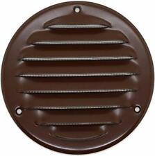 Vent Cover - Round Soffit Vent - Air Vent Louver - 4'' Inch Metal - Brown