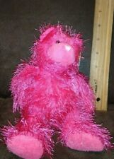 TY Punkies SHOCKERS Dark Pink Teddy Bear w/Tags Stuffed Animal Toy Bright