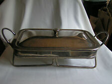 VINTAGE SILVERPLATED 2 HANDLE WARMING HOLDER WITH LID