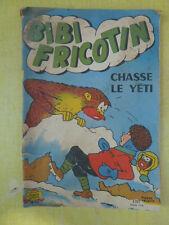 Ancien livre, revue pour enfant bibi Fricotin chasse le Yeti n° 51