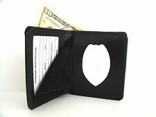 US Navy Security Police Badge Wallet Recessed Badge Cut Out Leather