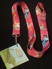 "Lot of 2 Disney Pin Trading Lanyard 18.5"" Length Tink Tinkerbell Fairy Friends"