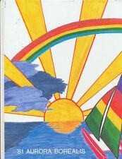 AURORA BOREALIS 1981 FOREST HILLS NORTHERN YEARBOOK GRAND RAPIDS MICHIGAN