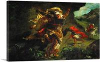 ARTCANVAS The Tiger Hunt 1854 Canvas Art Print by Eugene Delacroix