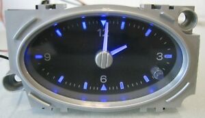 Ford Mondeo Mk3 2001-2007 Blue Led Black Faced Analogue Time Clock Red Alarm