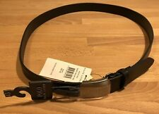 POLO RALPH LAUREN MEN'sENGINE TURN BLACK LEATHER BELT!Size 40! NEW! Only £79,90!