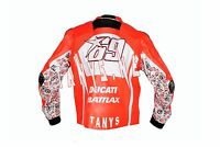 NICKEY HAYDEN DUCATI 2013 MOTORBIKE MOTORCYCLE MOTOGP RACING LEATHER JACKET