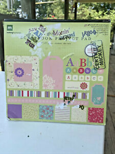"""Making Memories Scrapbook Project Paper Pad-8"""" x 8""""-39 Sheets-All Girl-Stickers"""