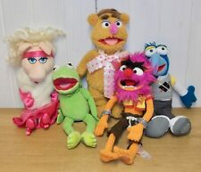 Set of 5 Disney Store Muppets plush toys inc. Kermit, Miss Piggy, Gonzo & Animal