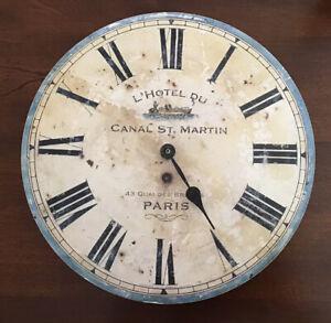 Timeworks Inc Vintage Looking Clock L' Hotel Du Paris
