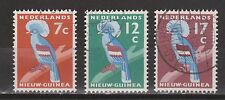 Indonesia Nederlands Nieuw New Guinea  54 - 56 used Kroonduif Crown Pigeon 1959