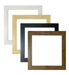 Square Photo Frame Picture Frame Poster Frame Black Oak White Walnut Wide Style
